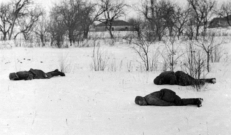 Красноармейцы, погибшие в марте 1943 года в Богодуховском районе Харьковской области